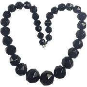 Antique Victorian Mourning Whitby Jet necklace