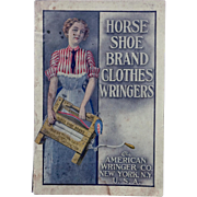 1902 Horse-Shoe Brand Clothes Wringers 88 Page Catalogue and Price List
