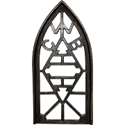 Cast Iron Sadiron Stand or Trivet with the Letters CWB