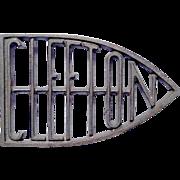Cast Iron Clefton Sadiron Stand Trivet