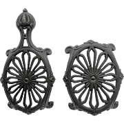 Two Scottish Trivets: Carron No. 4 and Carron No.5, both with Rd Diamond Marks for 1859