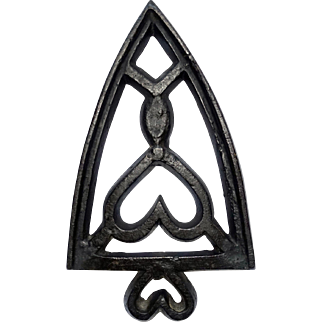Early Spade Trivet with Heart Handle and Wedge Mark