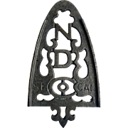 Cast Iron Sadiron Stand or Trivet for ND Company, San Francisco, CA