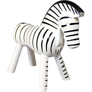 Zebra in painted Wood by Kay Bojesen