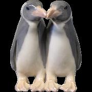 Royal Copenhagen porcelain figure a couple of penguins, no.: 1190.