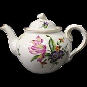 Teapot in Saxon flower by Bing and Grøndahl.