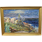 Oil painting on canvas by Frode Andersen 1964 from Bornholm.