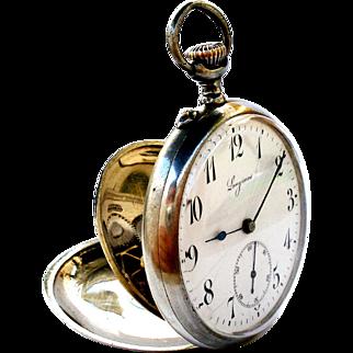 Vintage Pocket Watch LONGINES Art Deco Open Face Cal. 18.89N Steel 1910c Working