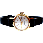 Vintage Bulova Automatic Classic Gold Plated 1960c Working Lady