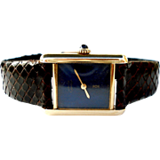 Watch Swiss Must de Cartier Paris 18k Gold Plated 925 Mechanical Working Lady