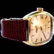 Vintage Watch Longines Flagship HF  Mechanic Square 34mm Men 1970c Working