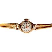 Vintage Watch Swiss RADO Art Deco Gold Plate 1940c Lady Working
