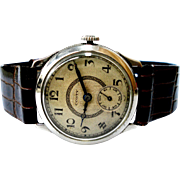 Vintage Watch Swiss CONTY Military Dial Textured Art Deco 1940c Working