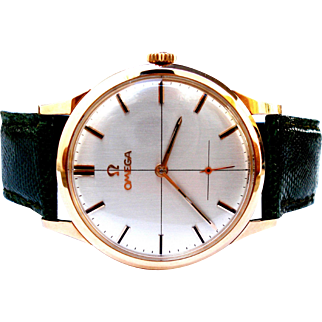 Vintage Watch OMEGA Classic 121009 Cal. 269 Solid Gold 18kt 0,75 Men 35mm 1960c