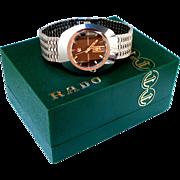 Vintage Watch Rado Diastar Automatic 25J Tungsten 35mm x 43mm Men 1970c Working