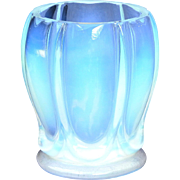 "French Art Deco Opalescent Glass by Verlys ""Les Godrons"" Genuine Vintage Vase c1930s"