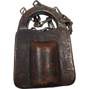 Rare, Antique Brass 1892 CR RR, Railroad Padlock