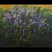 "Guillermina Zenteno ""Wallflowers"" 20th Century Landscape Painting Oil on canvas"