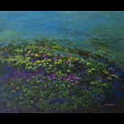 "Guillermina Zenteno ""Dusk"" 20th Century Landscape Painting Oil on canvas"