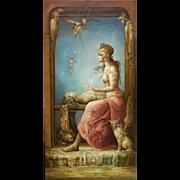 "Juan Reyes Haro ""Medium"" 20th Century Surrealistic Painting Oil on Canvas"
