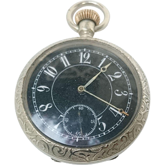 Sterling Silver Longines Decó Pocket Watch
