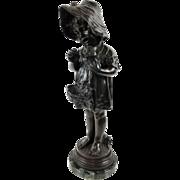 Most Excellent Antique E. Colin et Cie c. 1882-1898 Artist Signed Firenze Bronze Sculpture