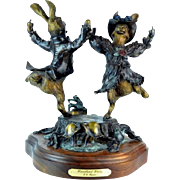 "20th Century Rare Bronze ""The Woodland Waltz"" signed by E.C. Wynne"