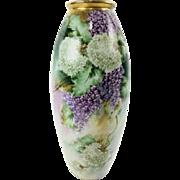 Antique Very Rare Delinieres & Co France Limoges Porcelain Vase c. 1894-1900