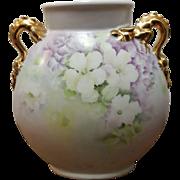 Gorgeous Giraud Limoges Dragon Handled Pillow Vase