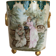 Captivating And Beautiful Porcelain Guerin Limoges Cachepot