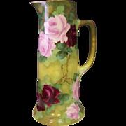 Wonderful Artist-Signed HABSBURG DYNASTY ERA Austrian Porcelain Pitcher, c. 1910s.