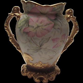 Breathtaking Pouyat Limoges Artist Signed  vase HEAVY GILT!!