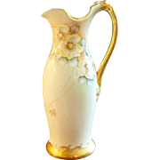 Gorgeous Antique Pouyat Limoges Heavy Gilded Pitcher