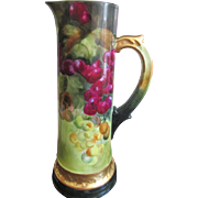 Gorgeous  Antique Tressemanes and Vogt (T & V) Limoges Tankard/Pitcher