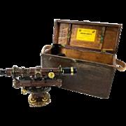Vintage early 20th Century Surveyors Transit in Original Box