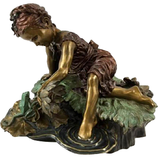 Peek A Boo Bronze By E.C. Wynne!  Artist signed and numbered 28/28