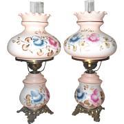 Gorgeous Matching Pair of Gone With The Wind Banquet Lamps