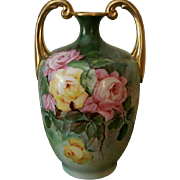 STUNNING 1909 Antique! Pouyat Signed and Dated Limoges Muscle Vase
