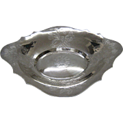 Coin silver berry dish by Jones, Lows and Ball of Boston Circa 1839.