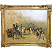 19th Century Oil Painting by Lucien-Pierre Sergent (France) – Napoleon Crossing the Alps