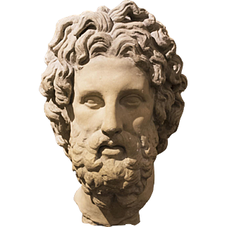 Magnificent Greek Bust of Asclepius