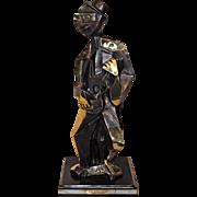 Large Pablo Picasso Guitar Man Bronze Sculpture