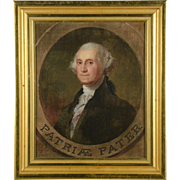 19th C. Oil Painting by Manuel del Franca after Gilbert Stuart, Portrait of George Washington