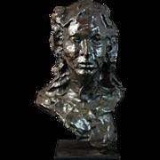 Beautiful Bronze Bust by Leonardo Benatov (France, 1899-1972)