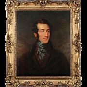 19th Century English School Oil Painting – Portrait of a Gentlemen