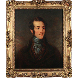 19th Century English School Oil Painting – Portrait of a Gentlemen