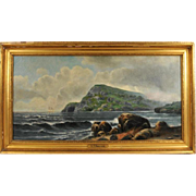 """Landscape Oil Painting by the Renowned Alfred Thompson Bricher Entitled """"Grand Manan Island"""""""