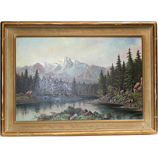 Rare Original 19th Century Landscape Oil Painting by Renowned John C. Miles