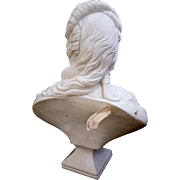 Remarkable Large 18th Century Solid Marble Sculpture – Bust of a Noble Lady