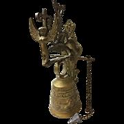 1860's Victorian Hand Hammered Brass Church Bell